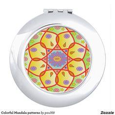 Colorful Mandala patterns Makeup Mirrors