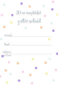 Invitaciones De Invitación De Cumpleaños A Lunares Para Imprimir Free Invitation Templates, Printable Invitations, Ideas Para Fiestas, Spa Party, Home Interior, Birthdays, Lily, Happy, Panda