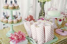 Gold, Mint, and Pale Pink Bridal Shower Bridal/Wedding Shower Party Ideas | Photo 5 of 17 | Catch My Party