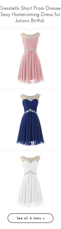"""Dresstells Short Prom Dresses Sexy Homecoming Dress for Juniors Birthd..."" by qwertyuiop-sparta ❤ liked on Polyvore featuring dresses, 13. dresses., pink, pink prom dresses, sexy short dresses, sexy short cocktail dresses, short prom dresses, pink dress, short dresses and blue"
