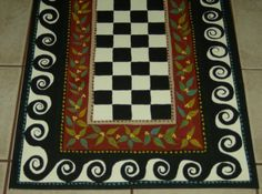 Floorcloth FRENCH COUNTRY ART hand painted by countryfloorcloths, $100.00
