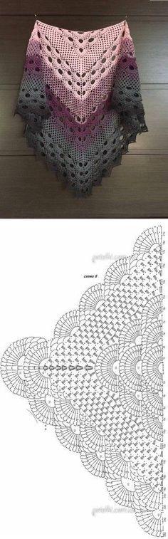 Crochet Beautiful Shawl (Sashay Yarn Schal häkeln 1 Source by . Poncho Au Crochet, Crochet Poncho Patterns, Crochet Shawls And Wraps, Shawl Patterns, Knitting Patterns, Crochet Scarves, Crochet Sweaters, Crochet Beanie, Crochet Diagram