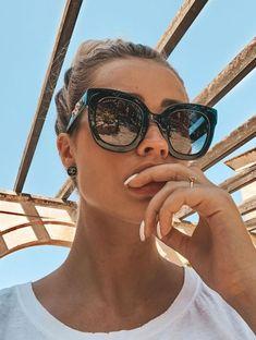 Ou Mo brand 2019 NEW Round glasses zonnebril dames flat lens