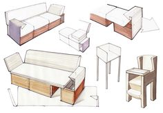 how to start sketching furniture - Google Search