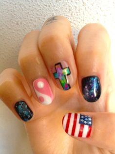 idea for my sister; she wants ying yang signs on her nails