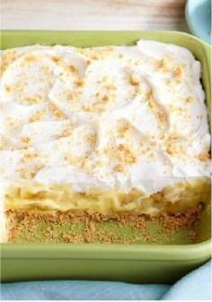 Savannah Banana Pudding -- This delicious dessert recipe gets its creamy deliciousness from PHILADELPHIA Cream Cheese, JELL-O Vanilla Flavor Instant Pudding and a COOL WHIP topping.