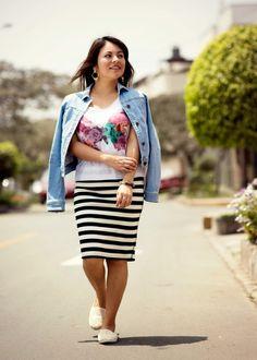 Pinkadicta: Más denim y rayas #outfit #modest #modesty #momongirl #ldsgirl