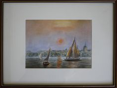 artist Georgette Archane-Gebel Year 2000 Watercolour painting on paper cm Comes with frame cm) Art, Painting