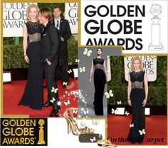 """Golden Globes!"" by thilika on Polyvore"