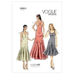 Buy the dress sewing pattern from Vogue® Patterns. This lined dress has neckline variations and bias bodice/lower front and back. Vogue Patterns, Mccalls Patterns, Dress Sewing Patterns, Clothing Patterns, Pattern Sewing, Elsa Dress, Prom Dress, Wedding Dress, Dress Shapes