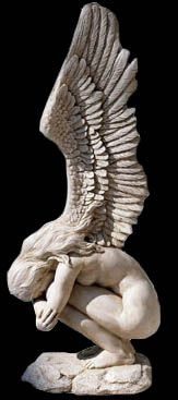 Weeping angel statue.