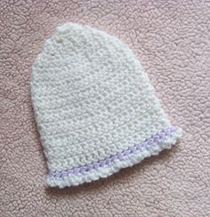 Easy crochet newborn baby hat