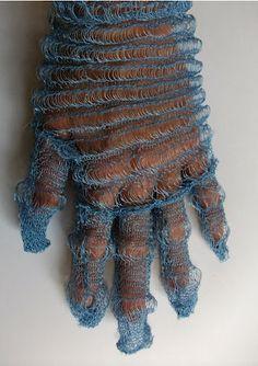 machine knit glove by Iris Arad