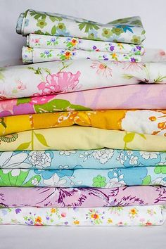 I've recently developed a very keen need for a collection of vintage sheets.  I love the patterns, the worn softness, and the way they make ...