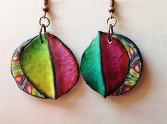 "Polymer clay, ""Fly..."" earrings"