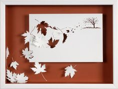 GALE - Paper cut and paper sculpture - reproduction art card. $7.00, via Etsy.