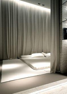 Tässä makuuhuoneessa ei ole mitään ylimääräistä - Oporski Architektura