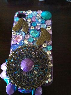 Black Friday Etsy Custom Iphone 4/4s Puple, Gold, Aqua, Feather, Bling Cell Phone Case  FREE SHIPPING. $35.00, via Etsy.