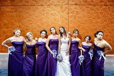 Elizabeth & Chris' Beautifully Blinged-up Purple and Orange DIY Wedding | Poptastic Bride