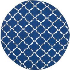Safavieh Hand-woven Moroccan Dhurries Dark Blue Wool Rug (6' Round) $136.84