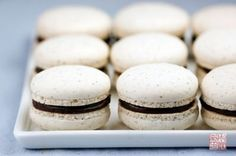 Italian Meringue Hazelnut Macarons with Homemade Nutella (but why bother, use the real thing)