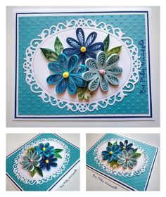 Quilling card by Pily Núñez/Chile