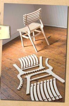 RawStudio's 2Pac Flatpack Chair — Slinks: n. (slingks) Surreptitious web links…