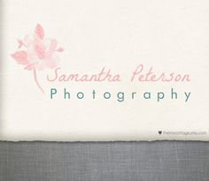 Premade Logo Design and Watermark Pink by TheTinyCottage on Etsy, $25.00