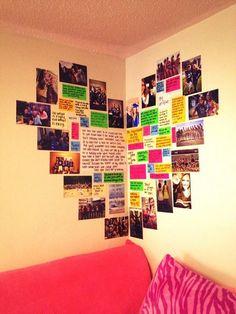 DIY Wall Art Ideas -Heart Shaped Memory Corner is Perfect for Teen Girl Room Decor