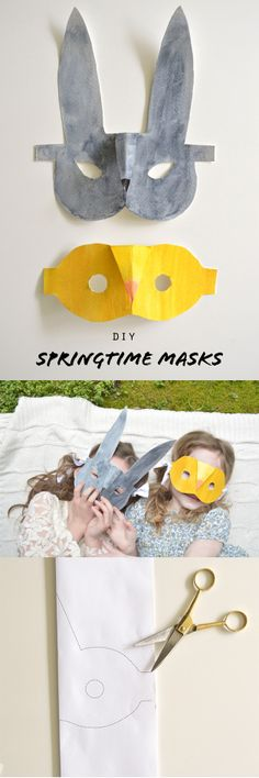 Easy and fun springtime masks for the little bunnies in our lives...