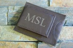 Personalized Genuine Leather Men's Engraved by KottageInspirations