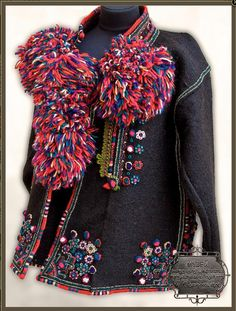 Serdak, Ukraine, from Iryna with love Folk Costume, Costumes, Ukrainian Dress, Ethno Style, Hand Embroidery Dress, Embroidered Jacket, Runway Fashion, Womens Fashion, Fashion History