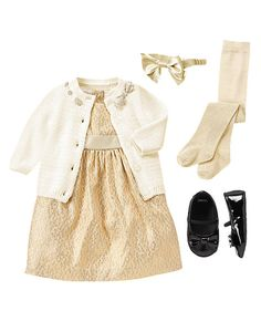 Gymboree  Little Golden Girl Infant/newborn Girl Holiday Dress/Outfit
