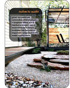 Ecotopes: landscape design portfolio garden steel architecture austin texas tx native xeriscape modern steve shelton post-modern xeriscaping landscaping landscaper
