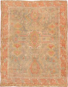 "ANTIQUE ANGORA OUSHAK Origin: TURKEY Size: 6' 1"" x 7' 9"" Rug ID # 633"