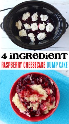 How to Make a Dump Cake!  This easy raspberry cheesecake dump cake recipe is bursting with the flavors of summer.  Tart, sweet, and delicious, this is bound to become a new family favorite! Spice Dump Cake Recipe, Dump Cake Recipes, Dessert Recipes, Delicious Cookie Recipes, Yummy Cookies, Lemon Desserts, Summer Desserts, Popular Recipes, Easy Recipes