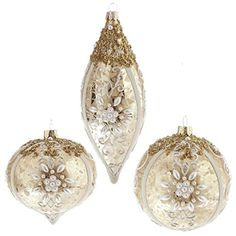 RAZ Imports Beaded Ornaments