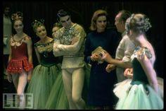 violette verdy, balanchine, and princess grace backstage