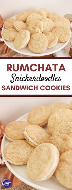 RumChata Snickerdoodles Sandwich Cookies - The classic snickerdoodle gets a yummy RumChata update in this easy cookie recipe! Make these cookies for a fun girls' night out or for your adult holiday parties! Recipe makes 2 dozen cookies.