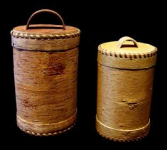 Birch Bark Storage Container