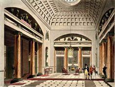 The Hall, Carlton House - Thomas Rowlandson.
