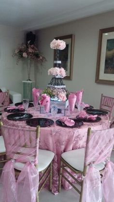 Paris theme table centerpiece