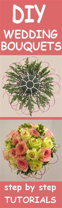 Wedding Bouquet Ideas - Free Flower Tutorials Learn how to make bridal bouquets, wedding corsages, groom boutonnieres, church decorations and reception centerpieces. Buy wholesale flowers and discount florist supplies.