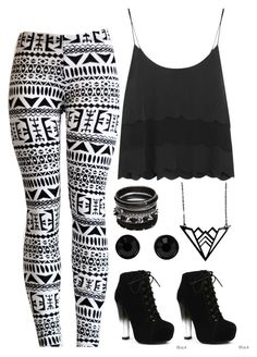 """""""#36 Always black and white"""" by rosaisela-98 on Polyvore featuring moda, Topshop, Fahrenheit, Givenchy y plastique*"""