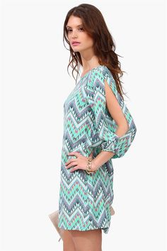 Bazaar Aztec Dress - Mint