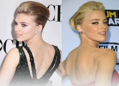"""10 Celebrities Who Look Exactly Alike - Suggest.com. Scarlett Johansson and Amber Heard.  When it comes to sultry femme fatale celeb doppelgangers, Scarlett Johansson and Amber Heard take first place. The """"Don Jon"""" actress and the """"Drive Angry"""" star have yet to team up on screen. We imagine that if they ever do, the result might be too hot to handle."""