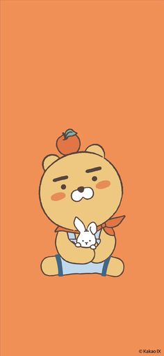 Soft Wallpaper, Bear Wallpaper, Iphone Wallpaper, Ryan Bear, Kakao Ryan, Wallpaper Notebook, Kakao Friends, Friends Wallpaper, Line Friends