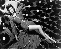 Marie McDonald in vintage vinyl heaven