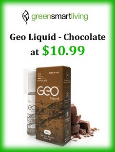 At Green Smart Livnig, they are offering geo liquid chocolate at $10.99 from greensmartliving.com. Snap up now and avail this deal. For more GreenSmartLiving Coupon Codes visit http://www.couponcutcode.com/coupons/25-off-on-geo-liquid-chocolate/