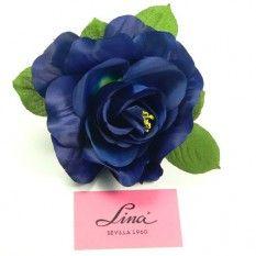 Rosa artificial grande color Azul Klein PVP: 3,50€.